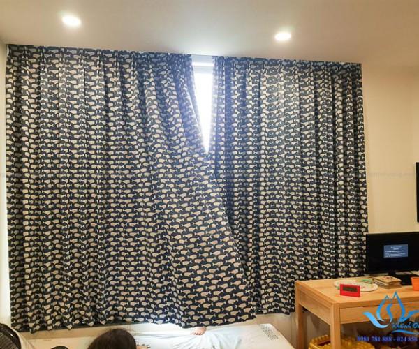Rèm vải Đài Loan hai lớp phòng bé trai tại quận Tây Hồ, Hà Nội A57152