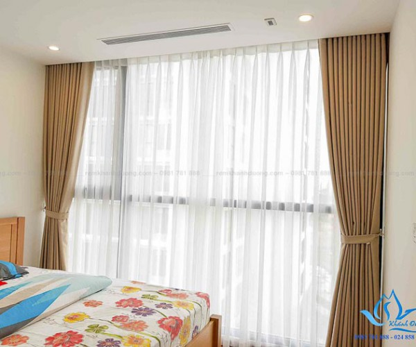 Rèm vải đẹp cản nắng cho phòng ngủ tại chung cư Bắc Linh Đàm TM-69-5