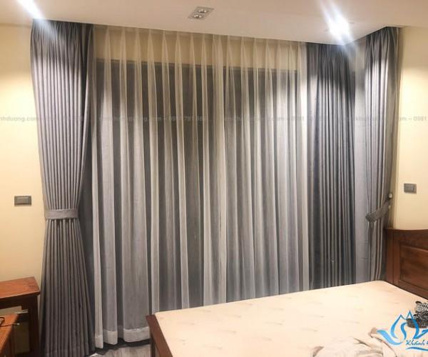 Rèm vải hai lớp cho phòng ngủ sang trọng tại Long Biên, Hà Nội TM592