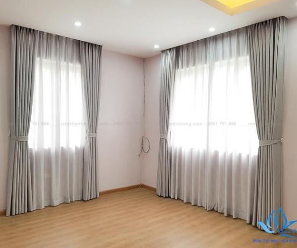 Rèm vải hai lớp chống nắng cao cấp tại KĐT Việt Hưng, Hà Nội HP79-S01