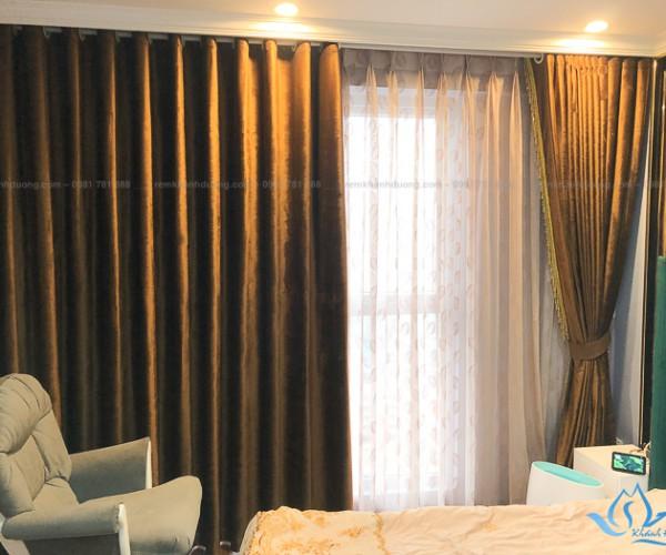 Rèm vải hai lớp đẹp dành cho phòng ngủ tại Nguyễn Tuân, Hà Nội HH190