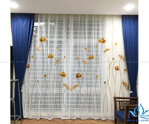 Rèm vải hai lớp thanh lịch biệt thự phố Ngọc Thụy, Long Biên TM-82-34