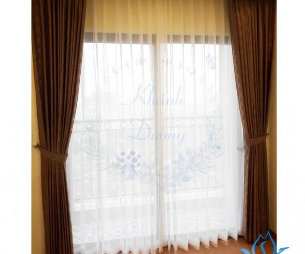 Rèm vải Hàn hoa văn KD-098