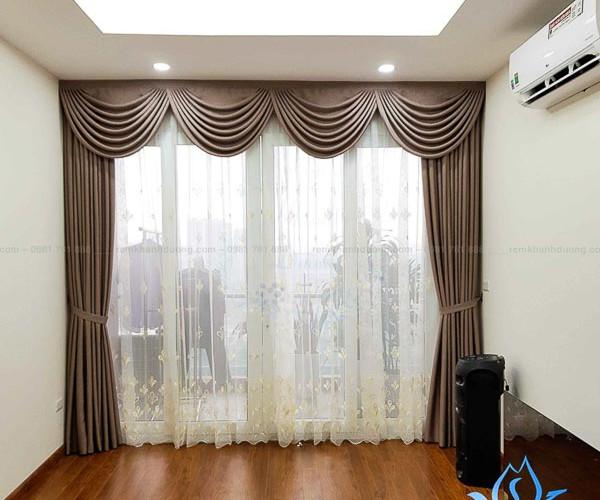 Rèm vải cổ điển đẹp tại chung cư Vimeco Phạm Hùng D10