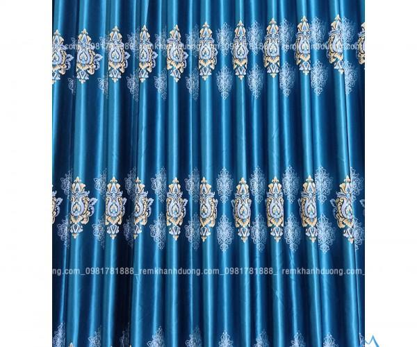 Rèm vải họa tiết sang trọng, bắt mắt tại Nguyễn Khoái, Hà Nội HH024