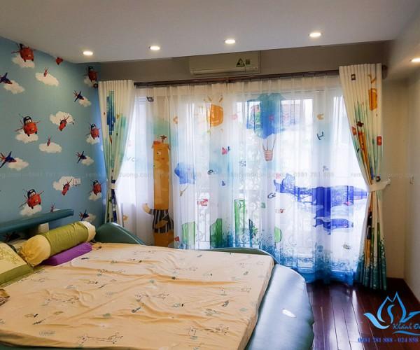 Rèm vải in tranh 3D ngộ nghĩnh dành cho bé yêu tại Âu Cơ, Hà Nội RT31