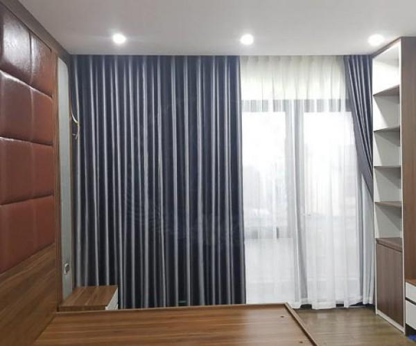 Rèm vải một màu cản nắng giá rẻ tại Sài Đồng Complex, Long Biên 08Y49