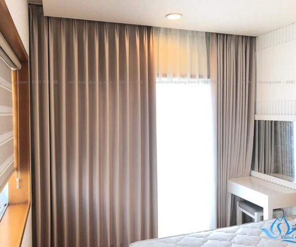 Rèm vải Nhật Bản chống nắng cho phòng ngủ Hoàng Hoa Thám, Hà Nội NB162