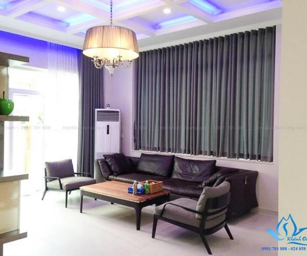 Rèm vải phòng khách Hàn Quốc hiện đại tại Booyoung Vina MELANGE04
