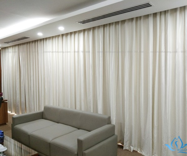 Rèm vải silicon cho cửa sổ phòng giám đốc đẹp Lê Đức Thọ, Hà Nội RS01