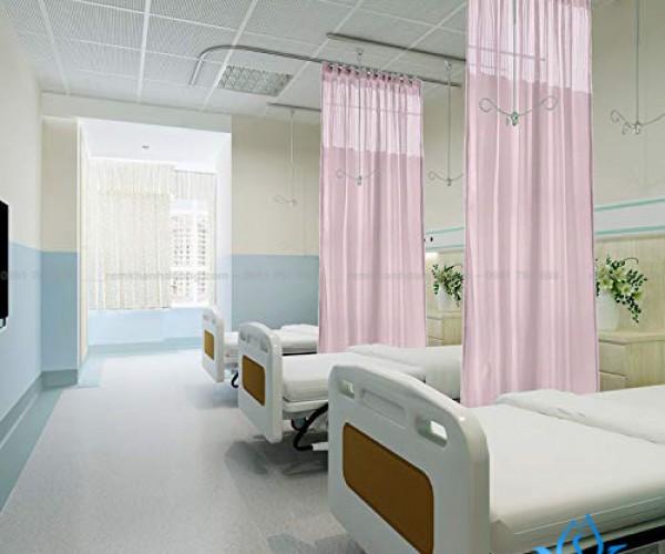 Rèm y tế hồng dịu nhẹ YT-28 bệnh viện Hà Đông