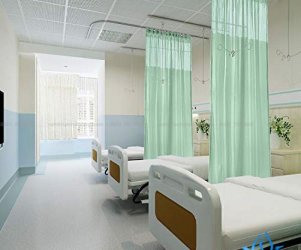 Rèm y tế xanh lục YT-27 cho bệnh viện quận Nam Từ Liêm