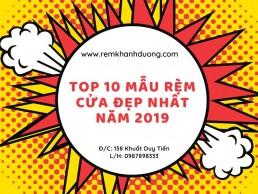 Top 10 mẫu rèm cửa đẹp nhất năm 2019